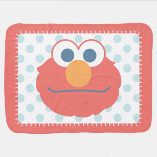 Baby Elmo Face Baby Blanket