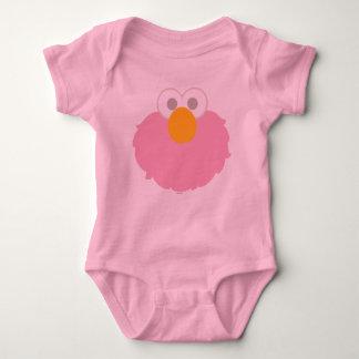 Baby Elmo Face Baby Bodysuit