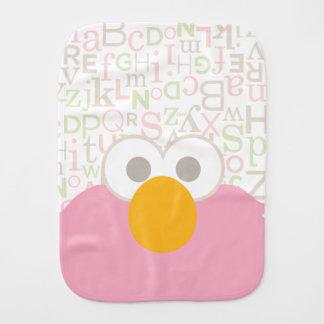 Baby Elmo Face Burp Cloth