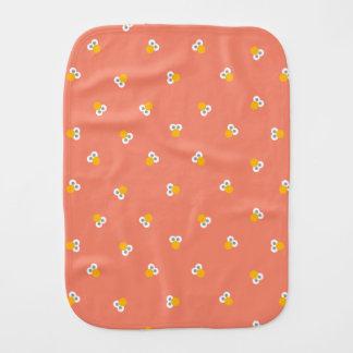 Baby Elmo Face Shape Pattern Burp Cloth