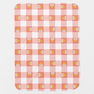 Baby Elmo Plaid Pattern Baby Blanket