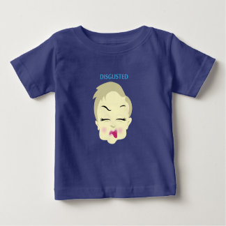 baby emoji - disgusted - dark blue baby T-Shirt