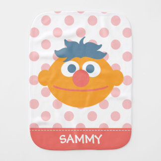Baby Ernie Face | Add Your Name Baby Burp Cloth