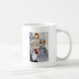 Baby Esbjorn Pulls on His Foot Basic White Mug