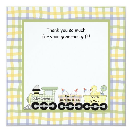 Baby Express Train Baby Shower Thank you note