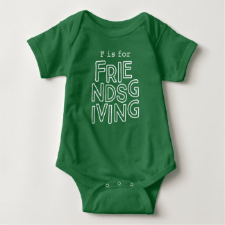 """Baby """"F is for Friendsgiving"""" Outfit Baby Bodysuit"""