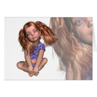 Baby Face Girl Invitation Greeting Card