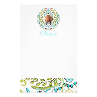 """""""Baby Face"""" Oliver Personalised Stationery"""