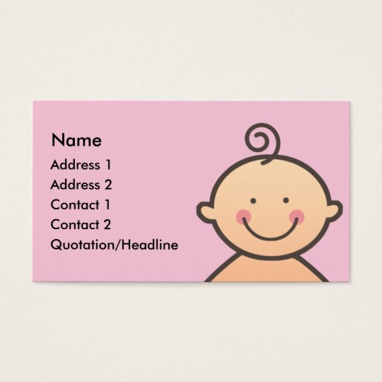 Baby Face Pink Business Cards