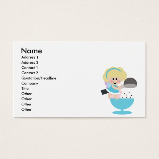 baby fairy ice cream scoop sweetie business card