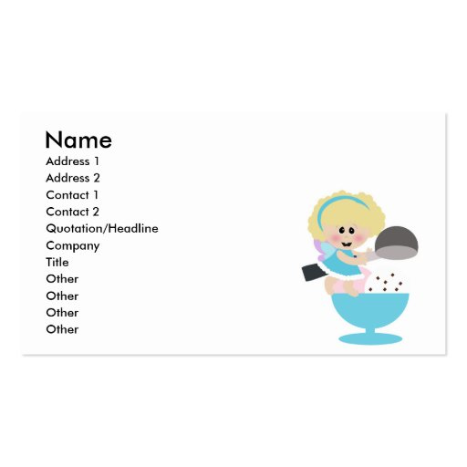 baby fairy ice cream scoop sweetie pack of standard business cards