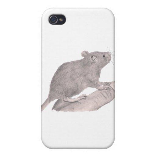 Baby Fancy Rat iPhone 4 Cover