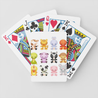 Baby Farm Animals Piggy Cow Mouse Snake Rabbit Bicycle Poker Cards