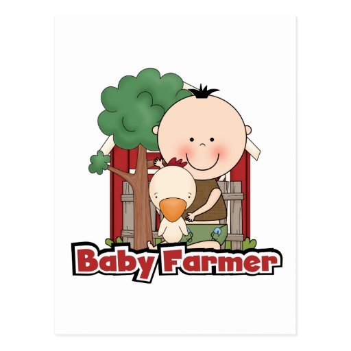 Baby Farmer With Duck Tshirts and Gifts Post Card