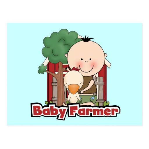 Baby Farmer With Duck Tshirts and Gifts Post Cards