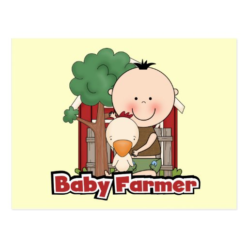 Baby Farmer With Duck Tshirts and Gifts Postcard