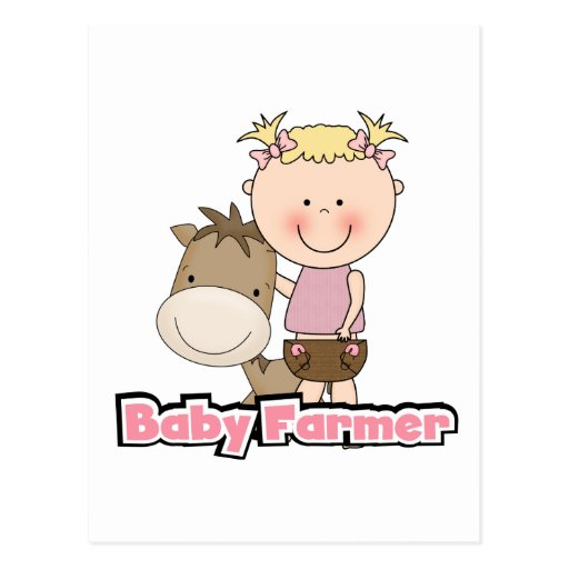 Baby Farmer With Horse Tshirts and Gifts Post Cards