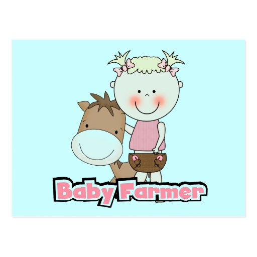 Baby Farmer With Horse Tshirts and Gifts Postcards