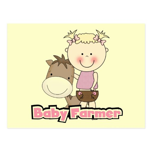 Baby Farmer With Horse Tshirts and Gifts Postcard