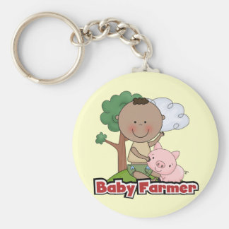 Baby Farmer With Pig Tshirts and Gifts Keychain