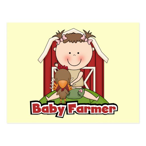 Baby Farmer With Rooster Tshirts and Gifts Post Cards