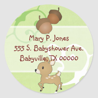 Baby Fawn Address Label Stickers