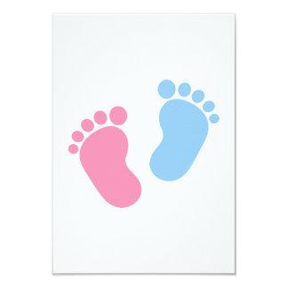 "Baby feet 3.5"" x 5"" invitation card"