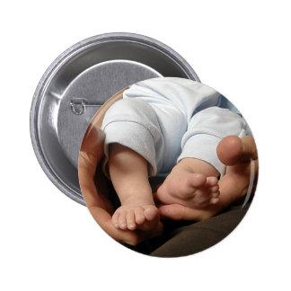 Baby Feet 6 Cm Round Badge