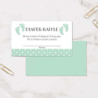 Baby Feet Baby Shower Diaper Raffle Tickets
