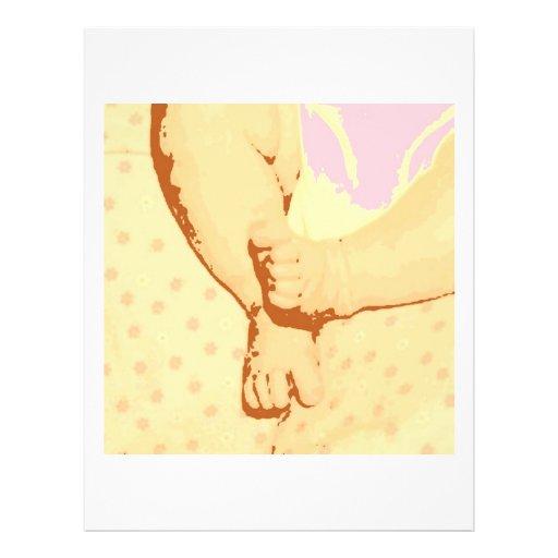 Baby Feet Baby Shower Flyer Design