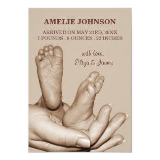 Baby feet Birth Announcement
