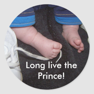 Baby Feet, Long live the Prince! Sticker