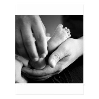 Baby feet post card
