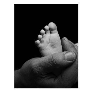 baby feet postcards