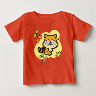Baby fine jersey red tshirt, with cool fox baby T-Shirt