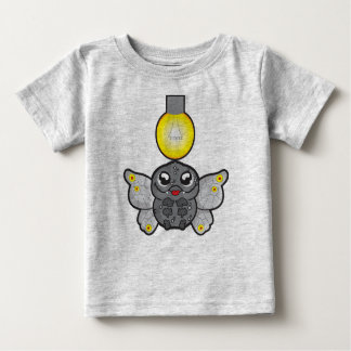 Baby Fine Jersey T-Shirt, Heather Grey with moth Baby T-Shirt