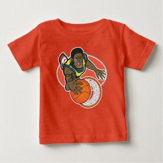 Baby Fine Jersey T-Shirt, Orange with player Baby T-Shirt