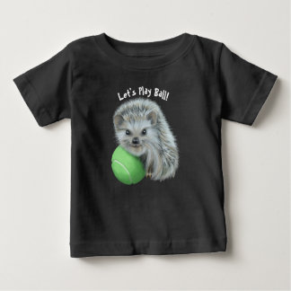 Baby Fine Jersey T-Shirt - Playful Hedgehog