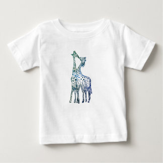 Baby Fine Jersey T-Shirt Sweet Giraffes Kiss