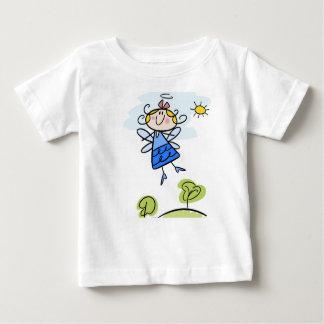 Baby Fine Jersey T-Shirt with cartoon angel