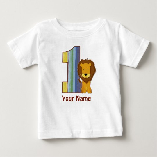 Baby First Birthday Lion Shirt