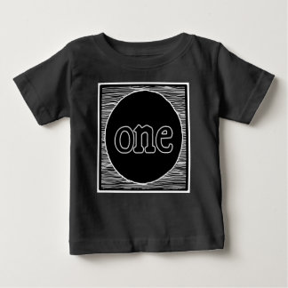 Baby first birthday one year hipster trendy shirt