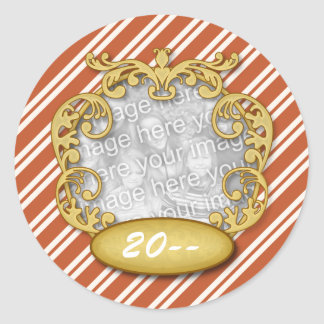 Baby First Christmas Candy Cane Stripes Sticker