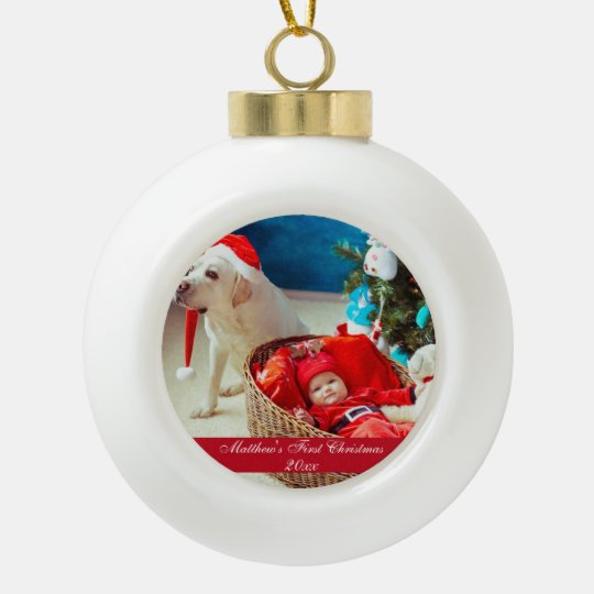 Baby First Christmas Ceramic Ornament
