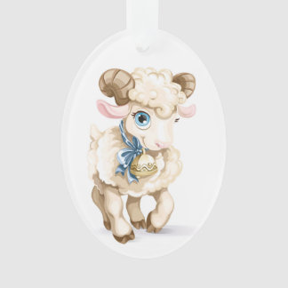Baby - First Christmas - Lamb Ornament