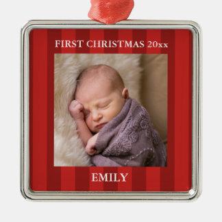 Baby First Christmas Photo Christmas Ornament