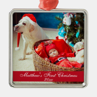 Baby First Christmas Premium Ornament