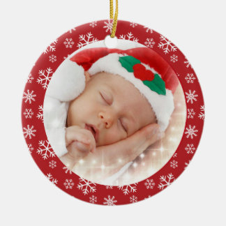 Baby First Christmas snowflakes ornament