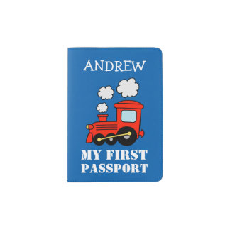 Baby first red toy choo choo train passport holder