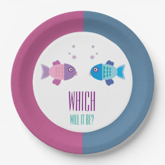 Baby Fish - Gender Reveal and Baby Shower Paper Plate